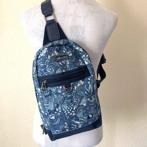 New The sak Sakroots blue adventure backpack sling